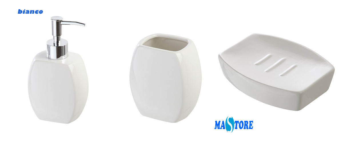 Mastore arredo bagno vendita online set accessori bagno da appoggio in ceramica vari colori - Accessori bagno viola ...