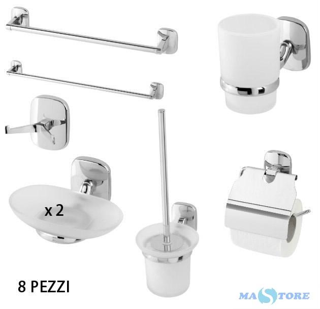 Set accessori bagno 8 pezzi