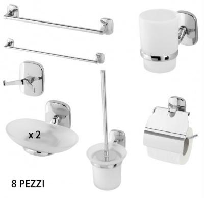 Mastore - Arredo bagno vendita online - Set accessori bagno 8 pezzi