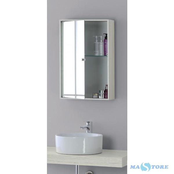 Pensile Specchio Contenitore Per Bagno.Specchio Bagno Contenitore Pino Bianco 45x70