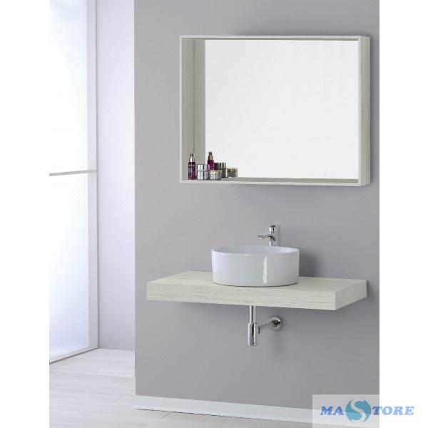 Specchio Bagno Bianco.Mastore Arredo Bagno Vendita Online Specchio Con Cornice Da
